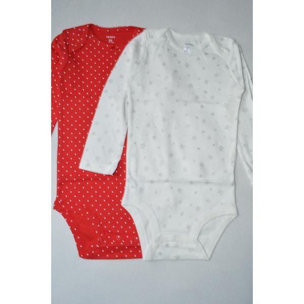 Бодіки 2шт 24М червоний, білий