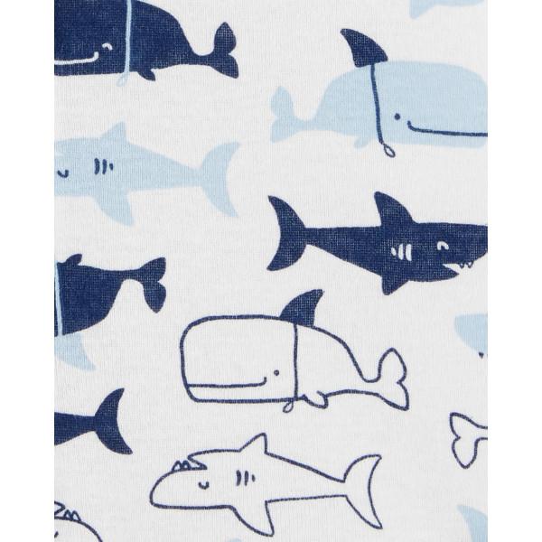 Світлий пісочник. ромпер з китами