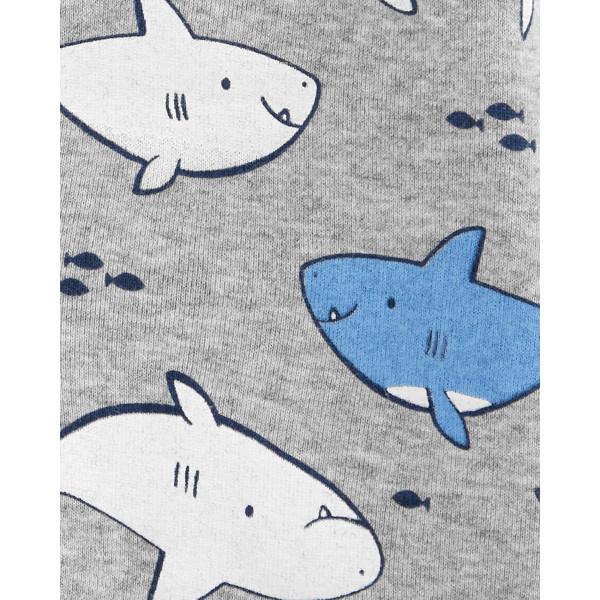 Сірий ромпер пісочник з акулами