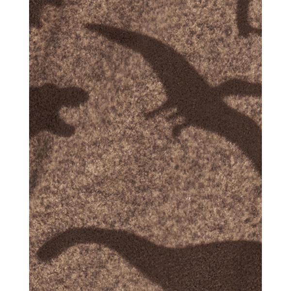 Ромпер, чоловічок коричневий, флісовий з динозаврами