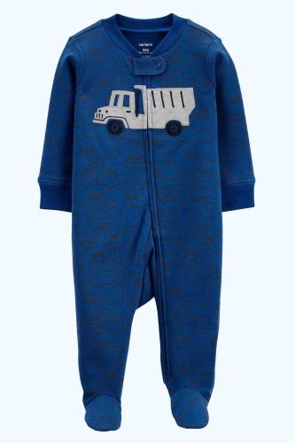 Чоловічок синій з машинкою