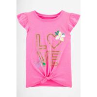 Рожева футболка Glitter Love 100% бавовна