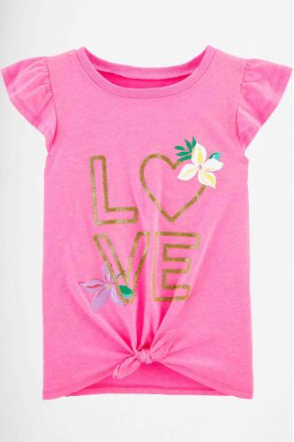 Рожева футболка Glitter Love 100%..