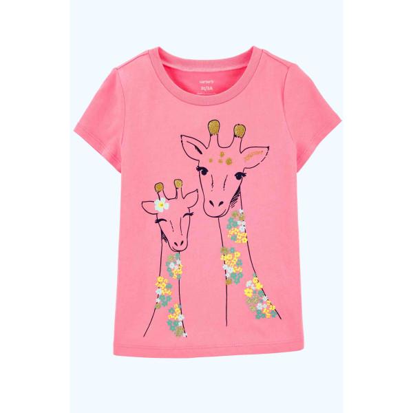 Футболка рожева Glitter Giraffe
