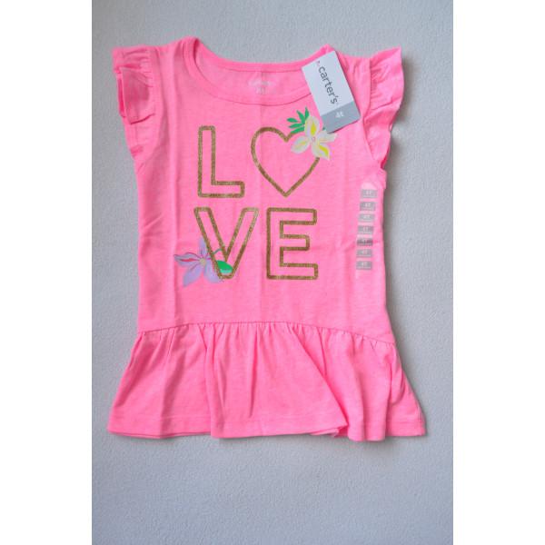 Туніка рожева Glitter Love Peplum Top 100% бавовна