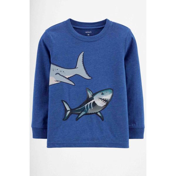 Реглан синій акули