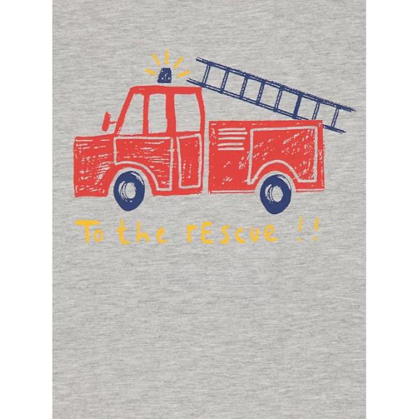 Реглан меланж з пожежною машинкою