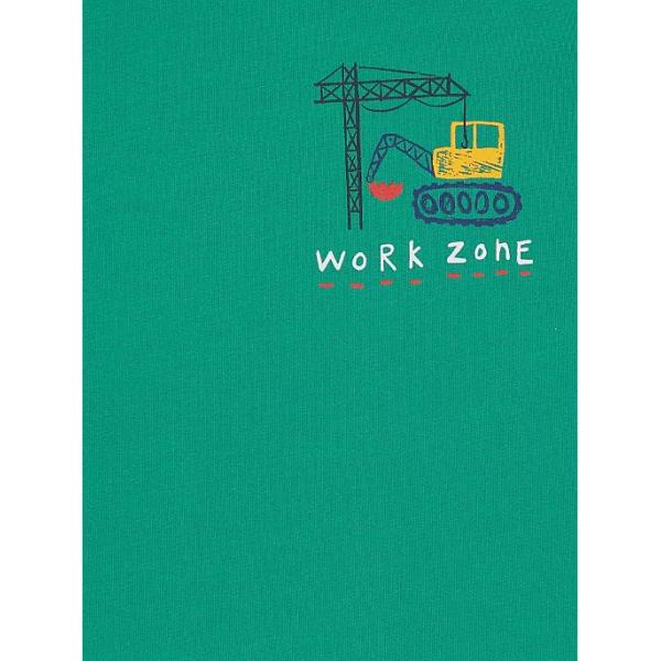 Зелений реглан  work zone з машинками