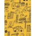 Реглан, лонгслив жовтий з машинками