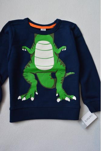 Реглан темно-синій з динозавром