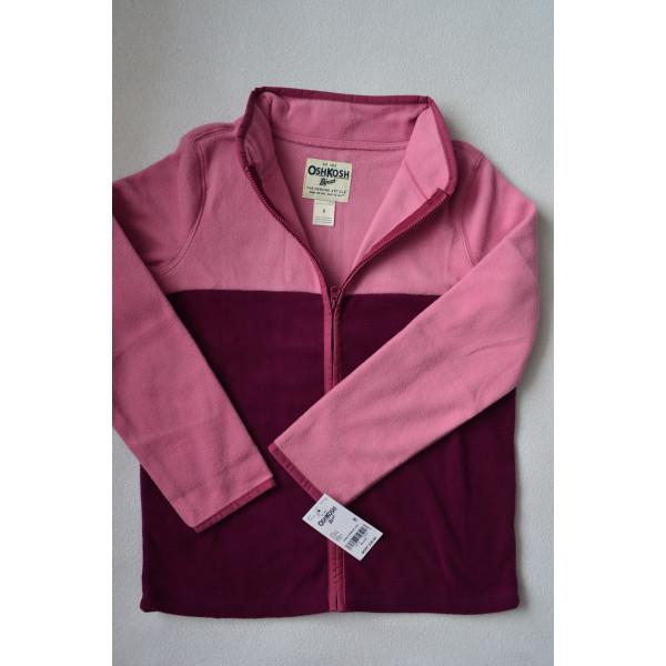 Кофта флісова, м'яка, рожева