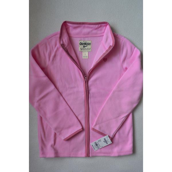 Кофта рожева з сердечком, флісова