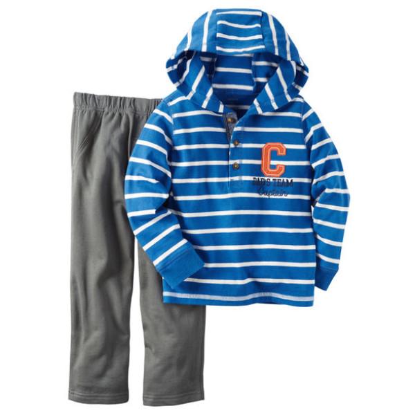 Комплект смугаста кофта, штани