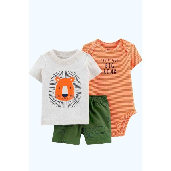 Комплект бодик, футболка, шорти Little Lion