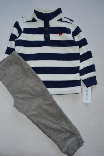 Комплект утеплений смугаста кофта, штани