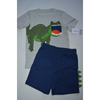 Комплект футболка, шорти з динозавром