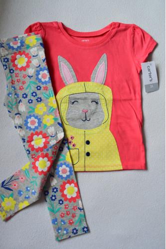Комплект футболка з кроликом,..