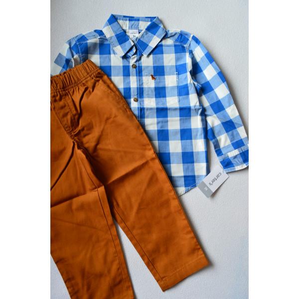 Комплект 2в1 рубашка в клітинку, штани