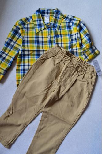 Комплект рубашка в клітинку, штани