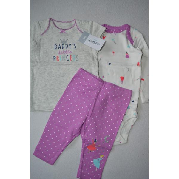 Комплект футболка Little Princess , бодік, штани