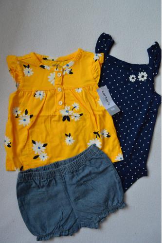 Комплект 3в1 жовте плаття, бодік,..