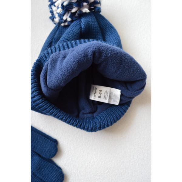 Шапка утеплена на флісі, рукавички