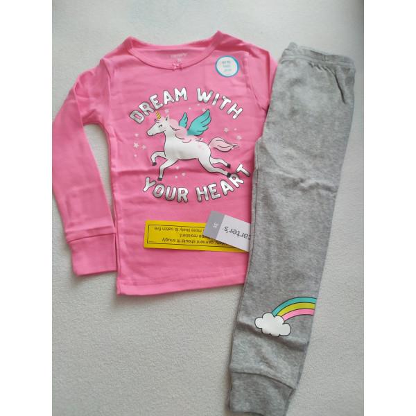 Піжама рожева з сірими штанами 1шт