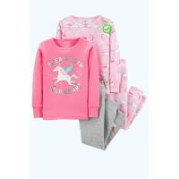 Піжама 1шт рожева в єдинорогі