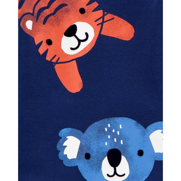 Піжама 1шт темно-синя з тигром