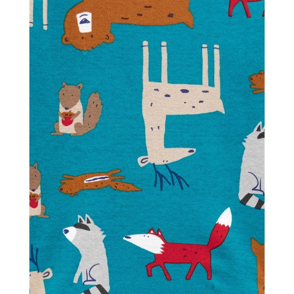 Піжама 1шт синя з звірятами