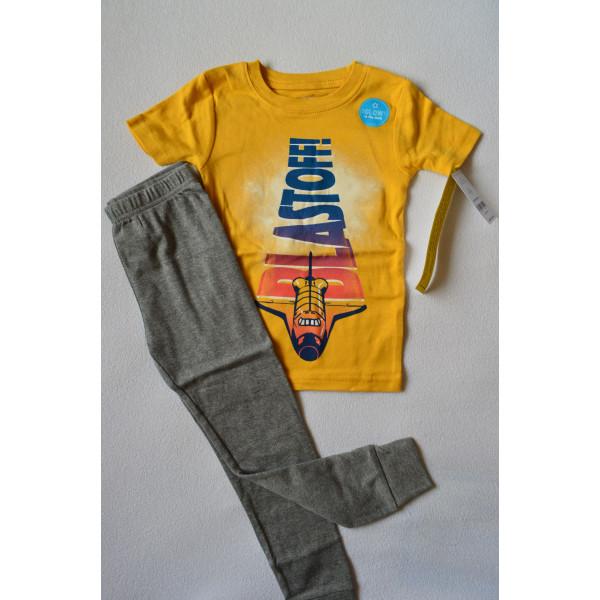 Піжама жовта BLASTOFF з коротким рукавом