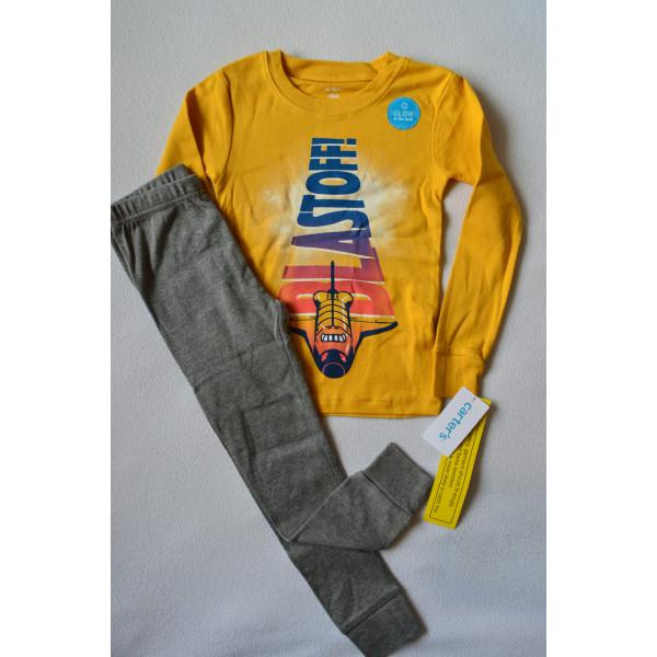Піжама жовта BLASTOFF з довгим рукавом