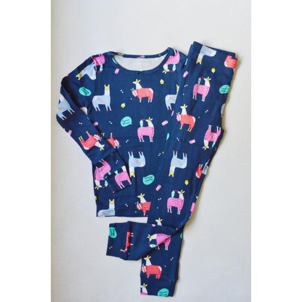 Пижама синя з ламами