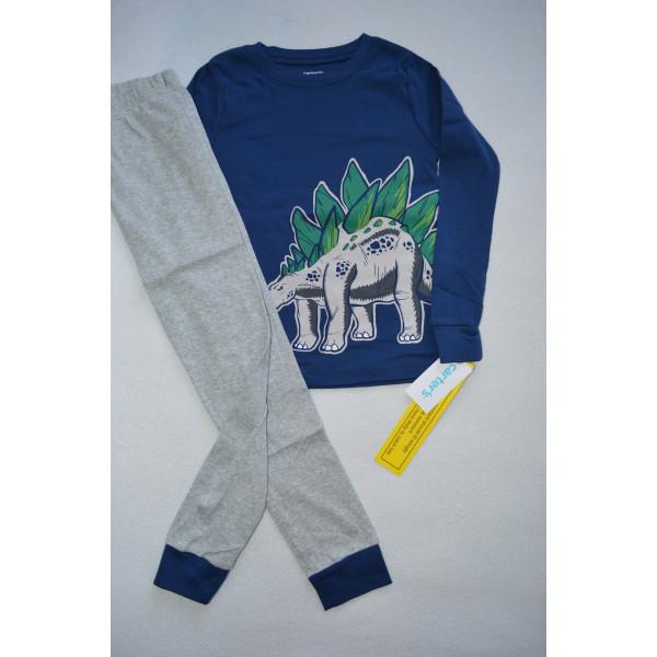Піжама 1шт синій верх, штани меланж 100% бавовна