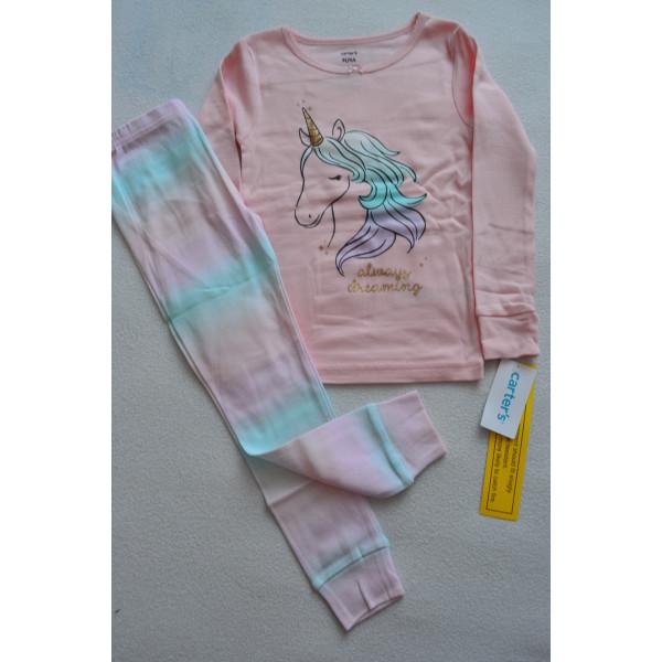 Піжама 1шт рожева з єдиноріжкою