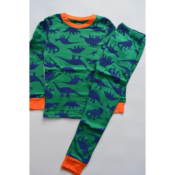 Піжама 1шт зелено-помаранчева з динозаврами