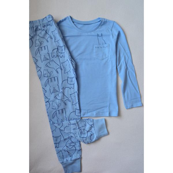 Піжама голуба 100% бавовна
