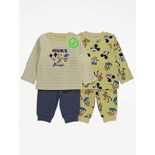 Піжама Mickey's Friends смугаста кофточка, сірі штани