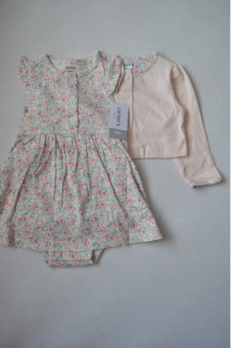 Плаття в квіточку з рожевим..