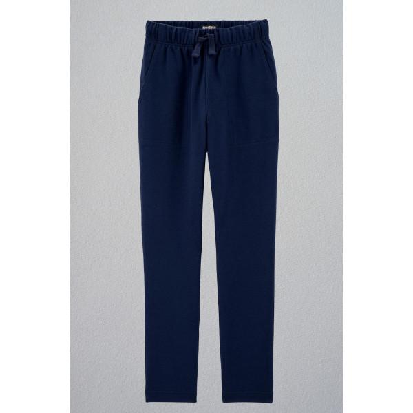 Темно сині трикотажні штани