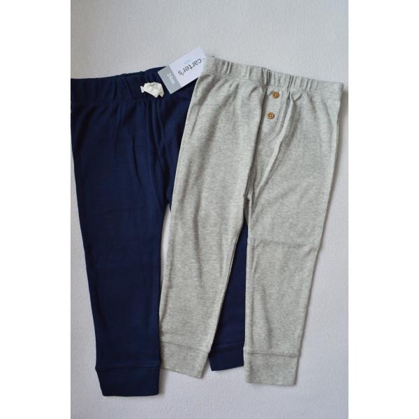 Комплект штанів 2шт сині, меланж