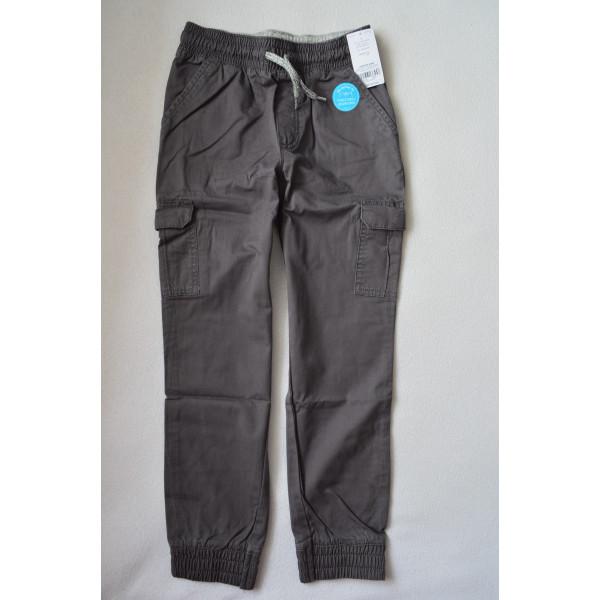 Штани сірі з накладними карманами
