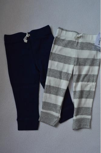 Комплект штанів 2шт сині, в смужечку