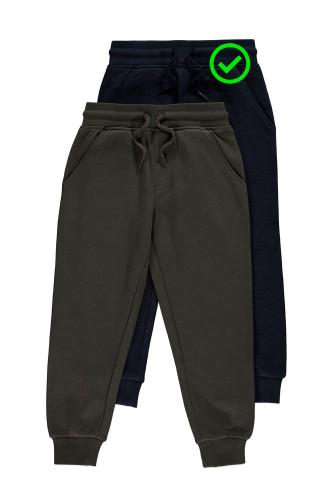 Штани джогери темно-сині трикотаж..