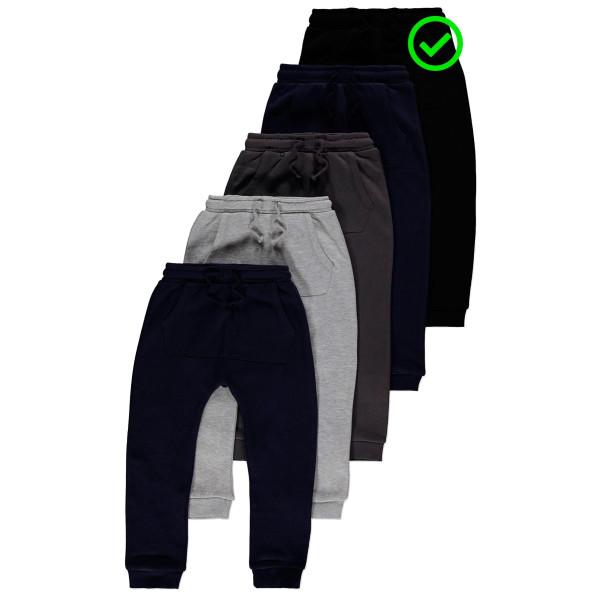 Чорні штани джогери трикотаж на флісі