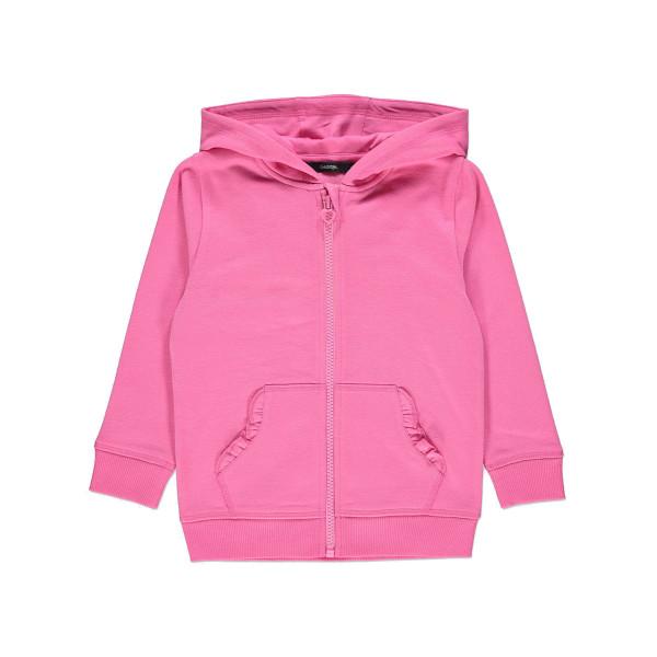 Кофта худі трикотаж на флісі, рожевий