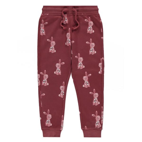 Комплект з кроликом рожевий світшот, джогери