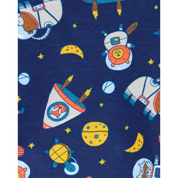 Піжама 1шт темно-синя з космічними звірятами