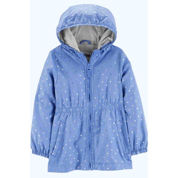Куртка весняна синя в сердечкі