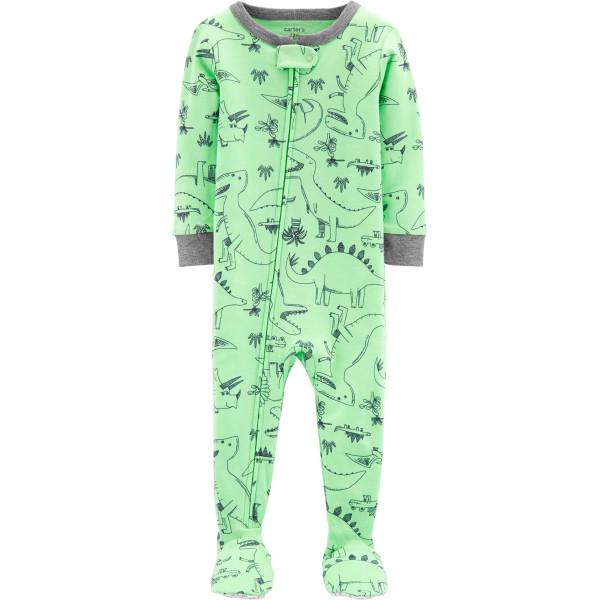 Чоловічок,сліпік бавовняний з ніжками зелений з динозавриками